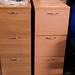Three door filing cabinet