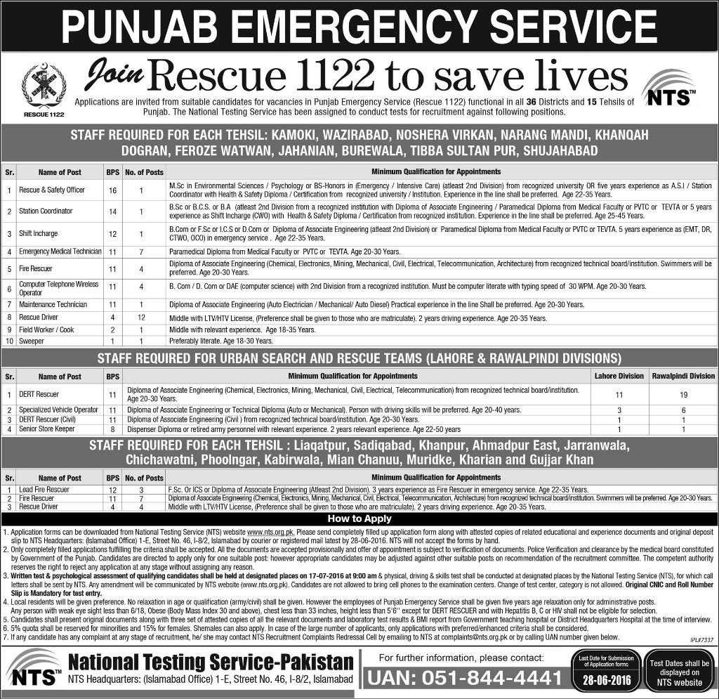 Punjab Emergency Service 1122