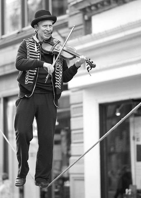 fiddler on the rope