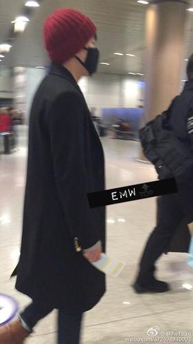 Big Bang - Incheon Airport - 31jan2015 - Seung Ri - eMwTopxi - 01