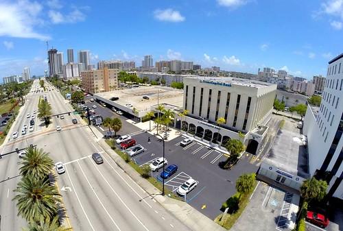 Ariel view of the location of Smile Design Dental on 2100 E Hallandale Beach Blvd Hallandale Beach, FL 33009