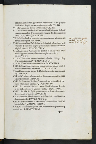 Manuscript note and colophon in Bossus, Matthaeus: Recuperationes Faesulanae