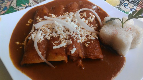 Red Mole Enchiladas