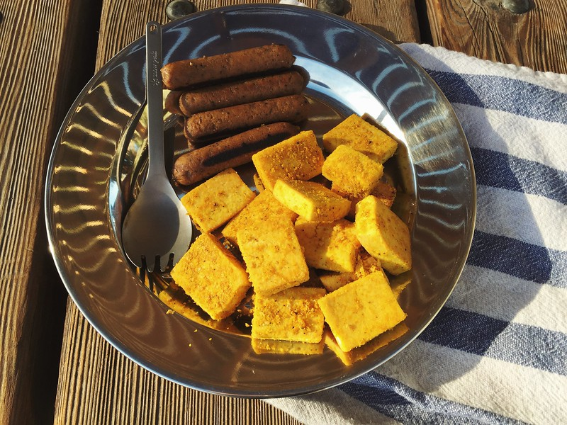 Tofu Scramble and Field Roast Sausage Breakfast