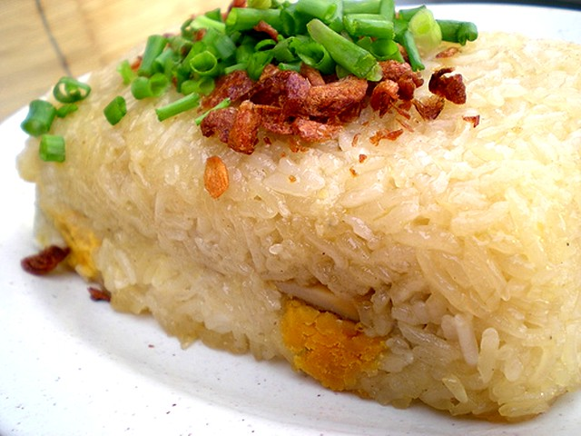 Glutinous rice with salted egg