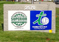Entry Monument Sign for Team Indiana