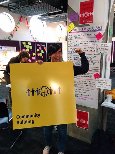 LET'S BUILD COMMUNITIES! YEEEEEAAAAAH. Pic by Rara.
