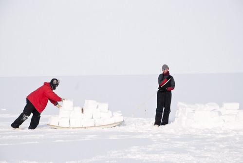 Construcción de iglú