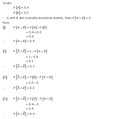 RD-Sharma-class-11 Solutions-Chapter-33-Probability-Ex-33.4-Q-1