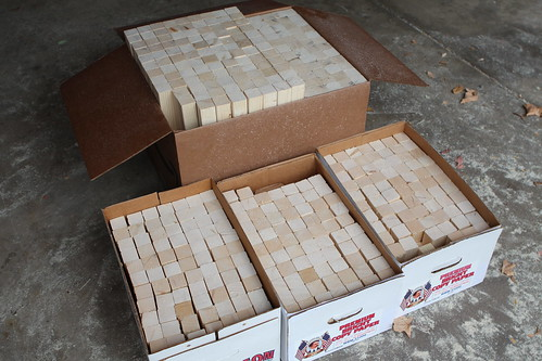 Cut Wood for QRD Diffusers