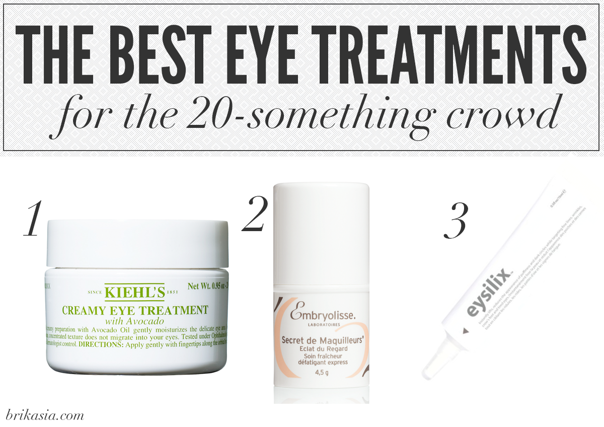 best eye creams for 20 year olds, kiehl's creamy eye treatment review, embryolisse artist secret radiant eye review, eysilix review