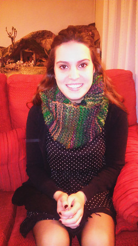 Tania & her infinity scarf