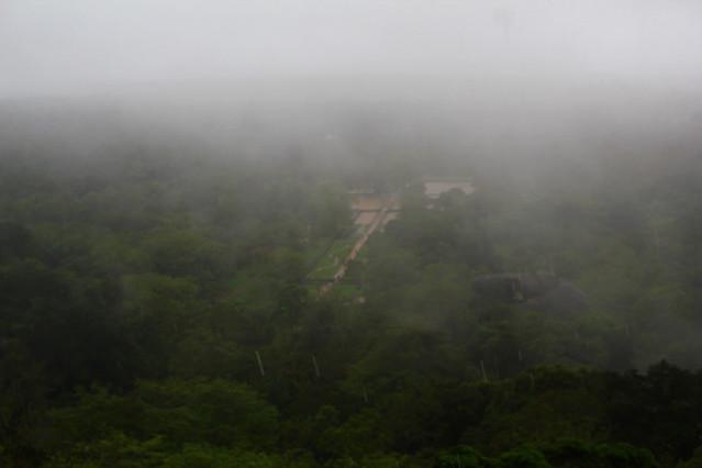 View from Sigiriya on a rainy day