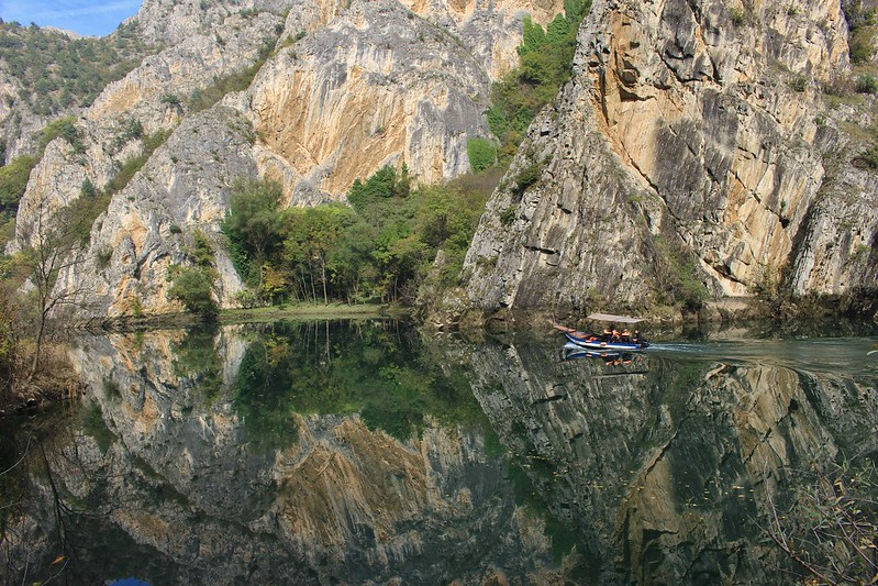 Boat trip in Matka canyon