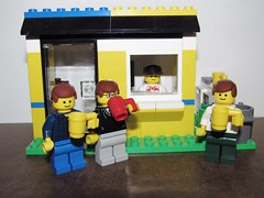 LEGO Minifigures Enjoying Coffee Break