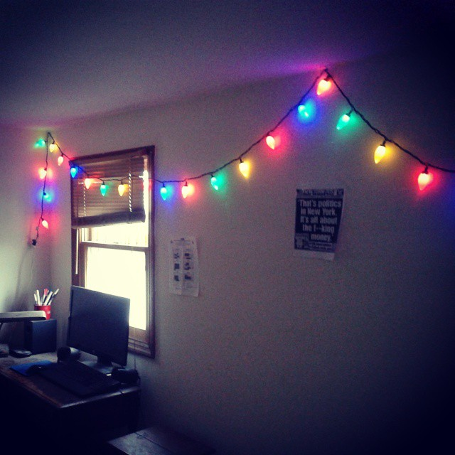 This string of Christmas lights uses only 2 1/2 watts per hour. Every 17 days of being on non ...