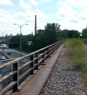 Edens Expressway from the future Weber Spur Trail