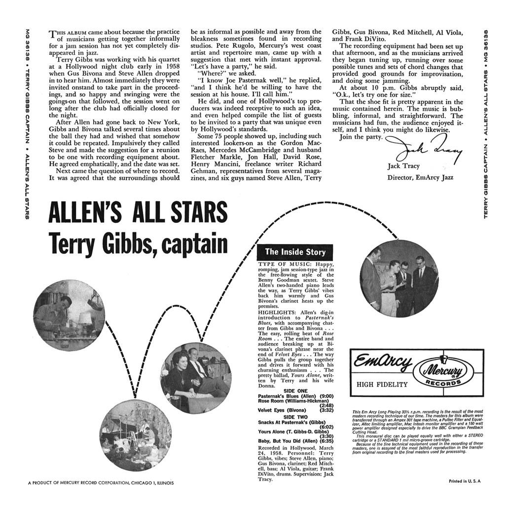 Allen's All Stars - Terry Gibbs, Captain