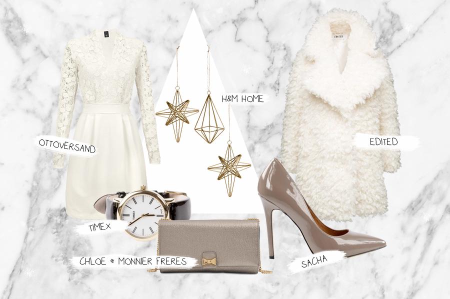 ottoversand.at weihnachten heiligabend schnee creme beige nude outfit ootd evening abendgarderobe abendkleid chic weiß ricarda schernus cats and dogs fashionblogger berlin