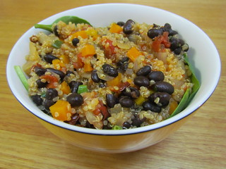 Black Bean and Two-Tomato Stew with Quinoa
