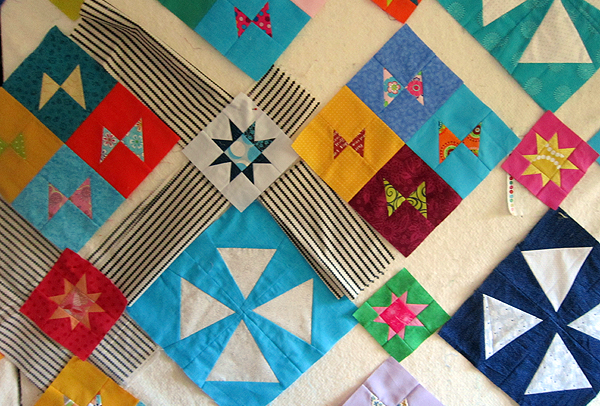 Angled charity quilt