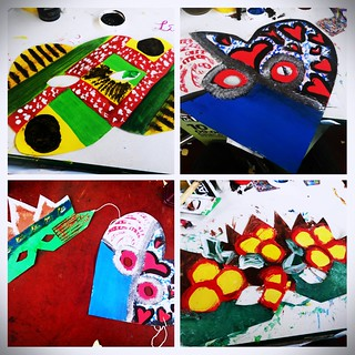 6 Dec: First four masks I painted