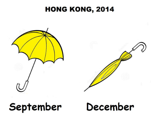 Umbrella Revolution: Folded