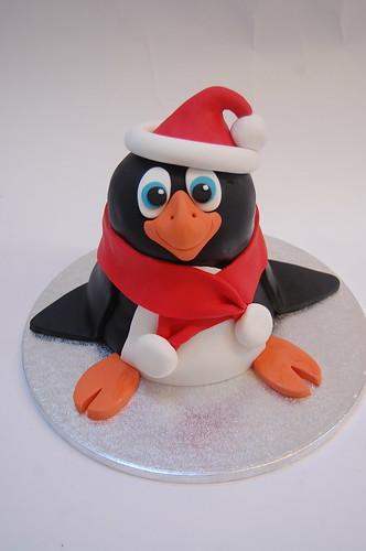 Amazing Festive Penguin Cake Beautiful Birthday Cakes Funny Birthday Cards Online Aeocydamsfinfo