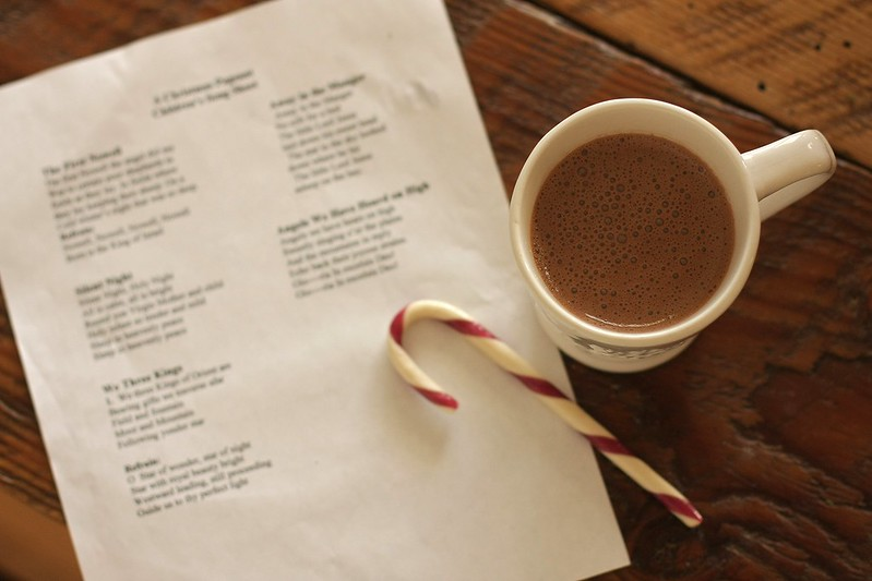 K's hot cocoa, candy cane and lyrics