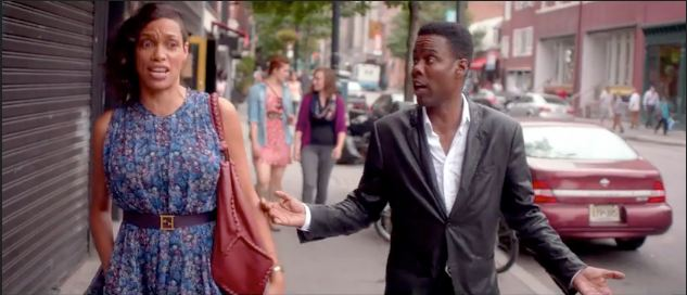 Rosario Dawson and Chris Rock charm each other -- and most everyone else -- in TOP FIVE.