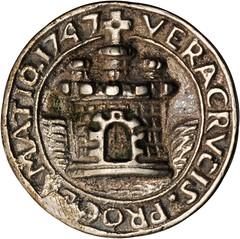 Lot 1011. MEXICO. Veracruz. Cast Silver Proclamation Medal, 1747 reverse