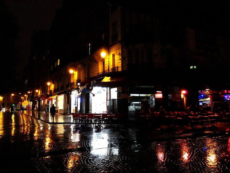 Rainy cobblestones