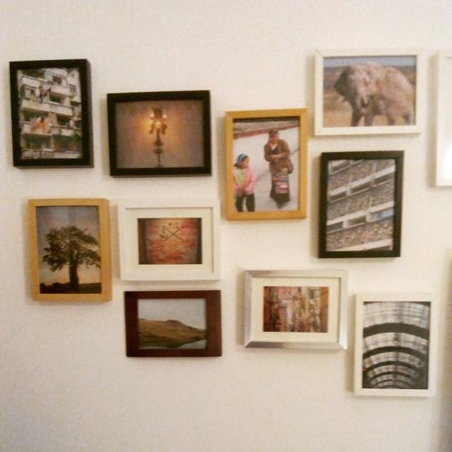 Mais fotos, mais memórias e mais gente na parede.