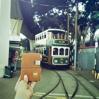 Finally the TRAVELER'S notebook Star Ferry Edition met the Din Din Tram!