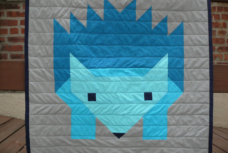 Hazel Hedgehog II quilt | Ginger Makes