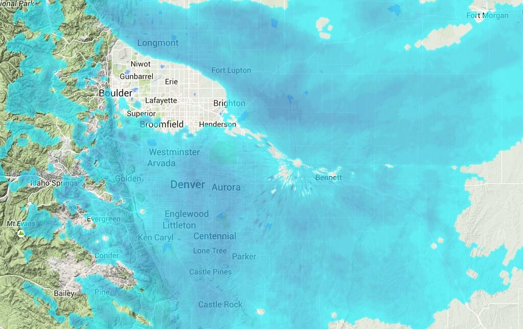 Radar image 4:25pm Saturday
