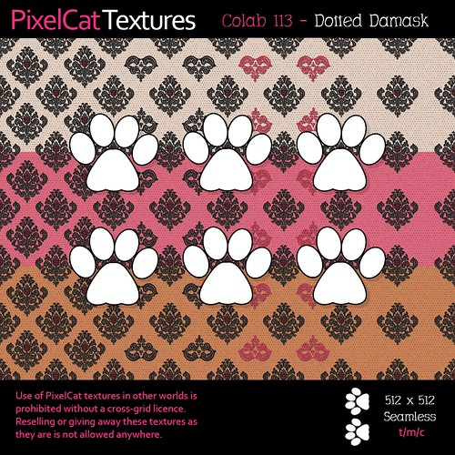 PixelCat Textures - Colab 113 - Dotted Damask