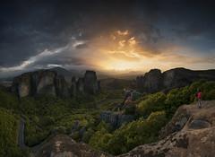 Sunset Meteora