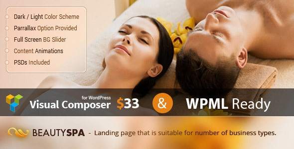 Spa v1.3 - WordPress Theme with Page Builder
