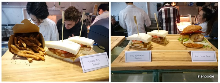 Japanese Fusion Sandwiches on display