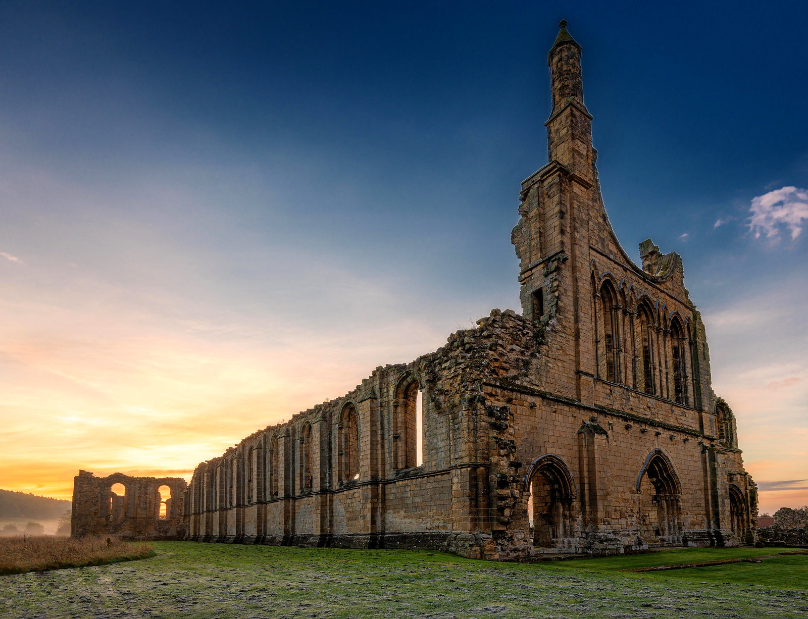 Byland Abbey at Sunrise. Credit Chris Combe