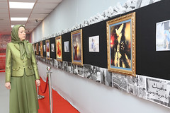 Maryam Rajavi Visiting the exhibition on Syrian people's resistance  (6)