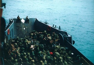 Marines on Helicopter Carrier 5 Leaving Okinawa for Donh Ha, Vietnam, May 1967