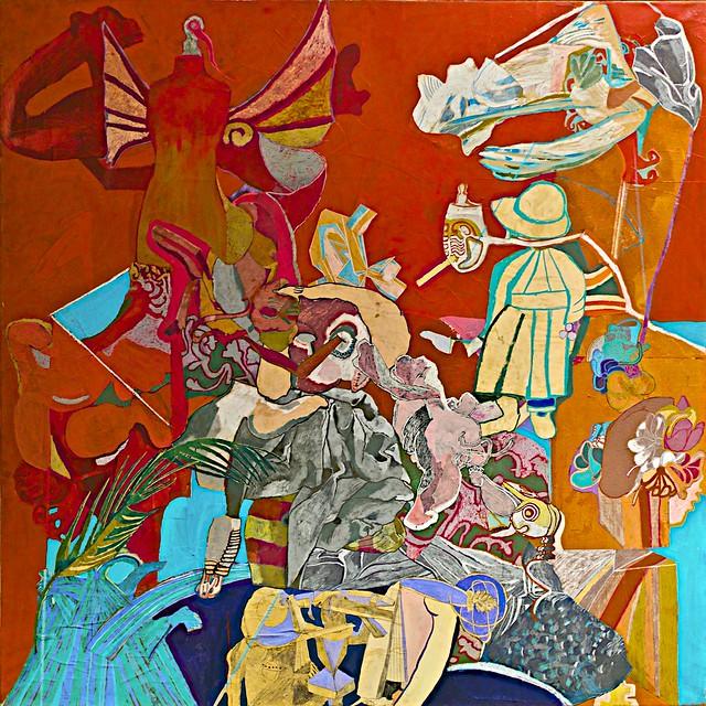 Self-Portrait in Red (1962) - Paula Rego (1935)