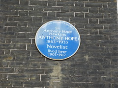 Photo of Anthony Hope blue plaque