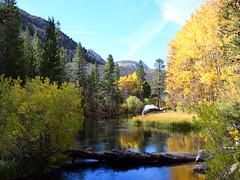 Just below the Lake Sabrina dam