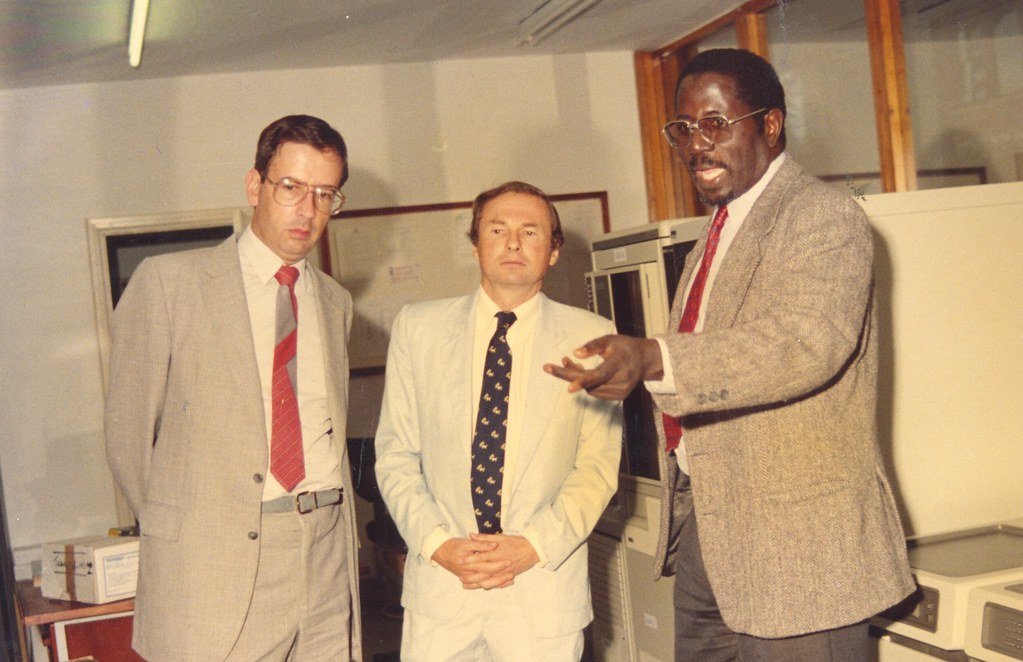 Mustapha Sall with guests