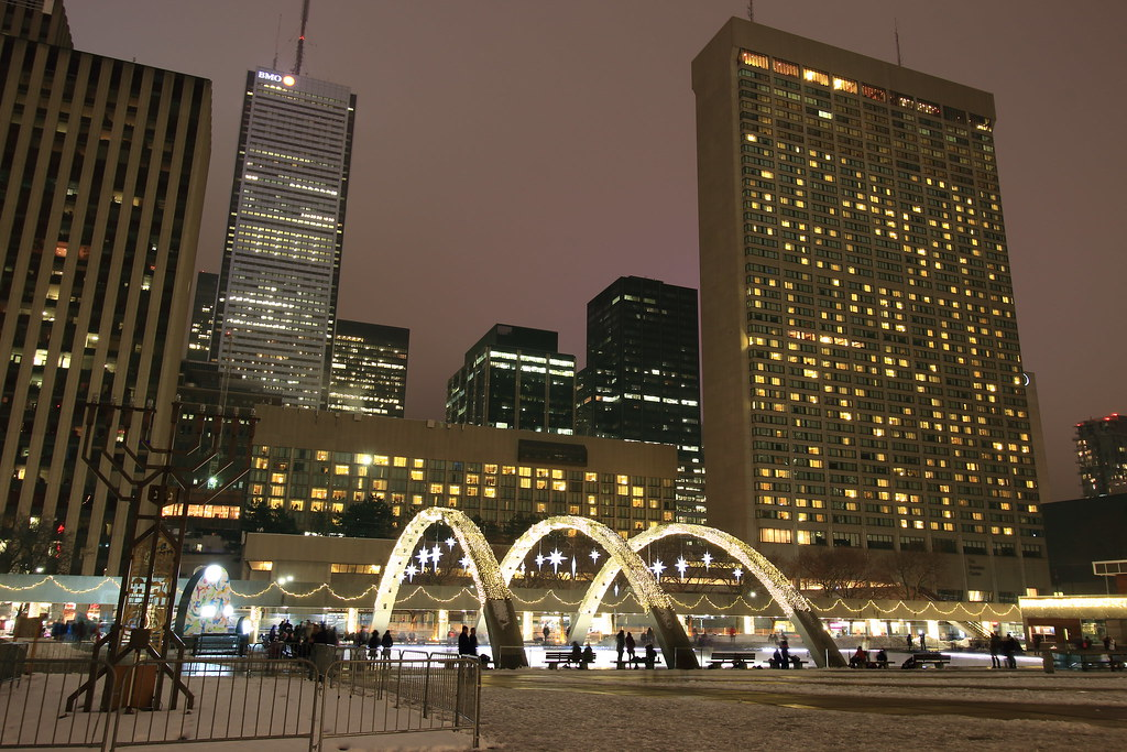 Nathan Phillips Square outdoor skating rink
