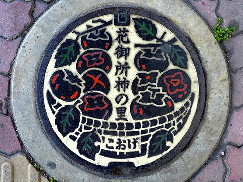 Koge Tottori, manhole cover 4 (鳥取県郡家町のマンホール4)