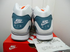 AIR TECH CHALLENGE II 'CLAY BLUE' Size 10.5 (White/Orange Burst-Clay Blue 643089-184) Deadstock
